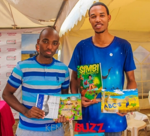 Mico Jamal and Jean Luc from Rwanda displaying a book they worked on