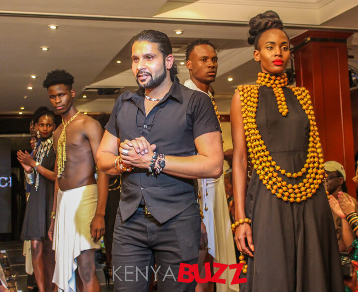 A designer after his designs were showcased