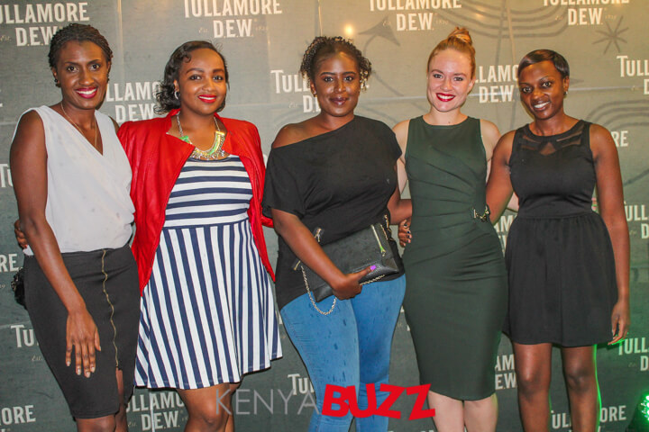 Guests posing with Tulamore Dew brand ladies