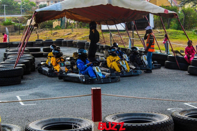 Nairobae IG Tour makes a stop for some Go Karting