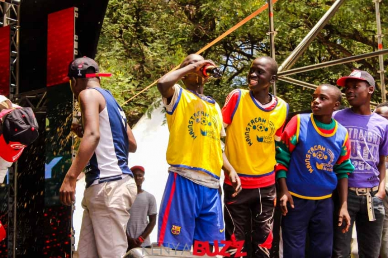 The World cup trophy makes its stop in Kenya