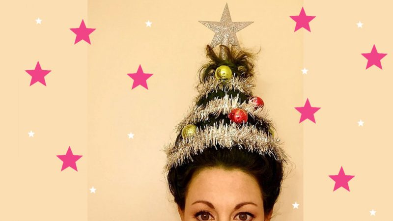 Is the Christmas Tree Hairstyle the New Trend in Town?