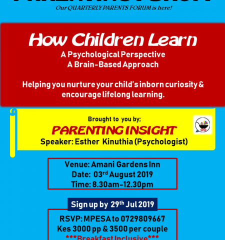 Save the Date: Parenting Forum-How Children Learn