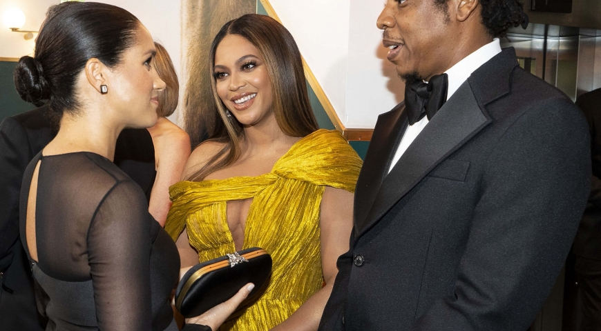 Fan Sparks Fly As Beyoncé And Meghan Markle Meet At Lion King London Premiere