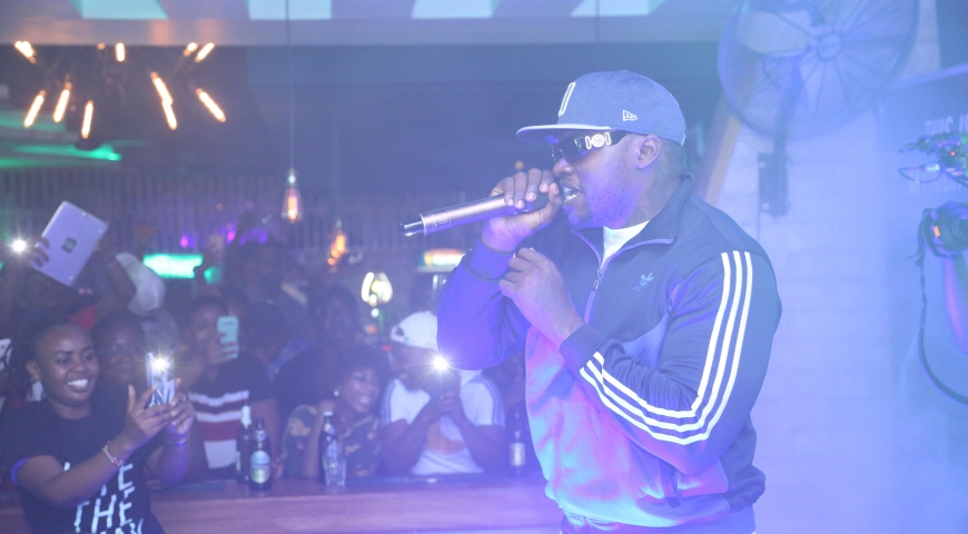 Khaligraph Jones 'Lites' up Mombasa Town