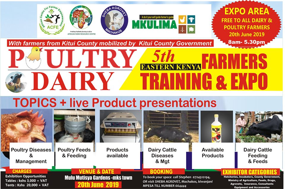 5th Eastern Kenya Poultry & Dairy FArmers Expo and Training