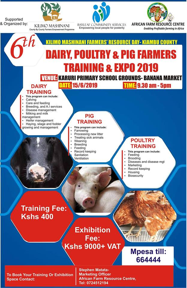 6th Kilimo Mashinani Farmers Training and Expo