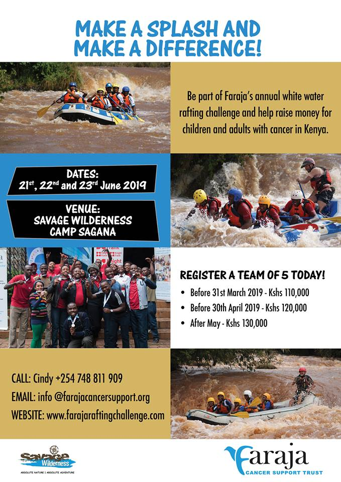 Faraja's Annual White Water Rafting Challenge