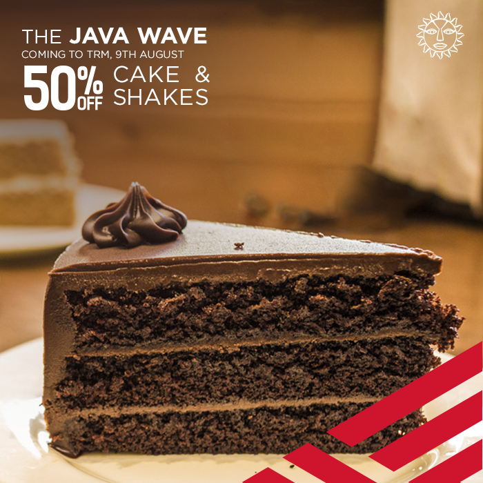 Java Wave 50% Off on Cake and Shakes