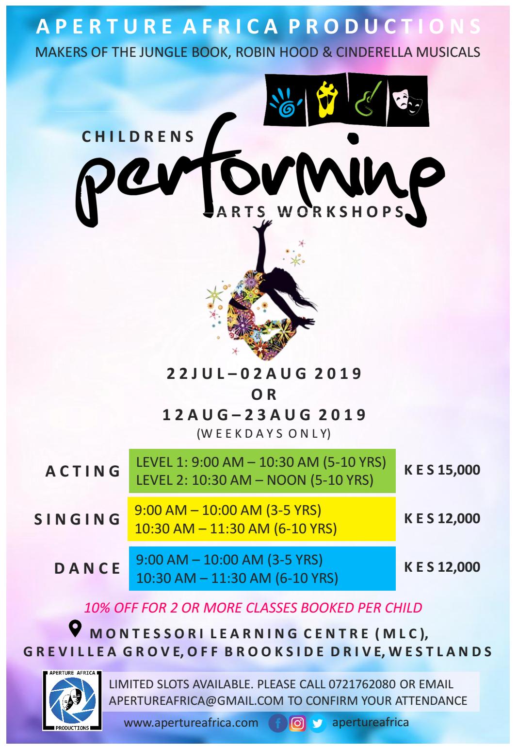 Performing Arts Childrens Workshops