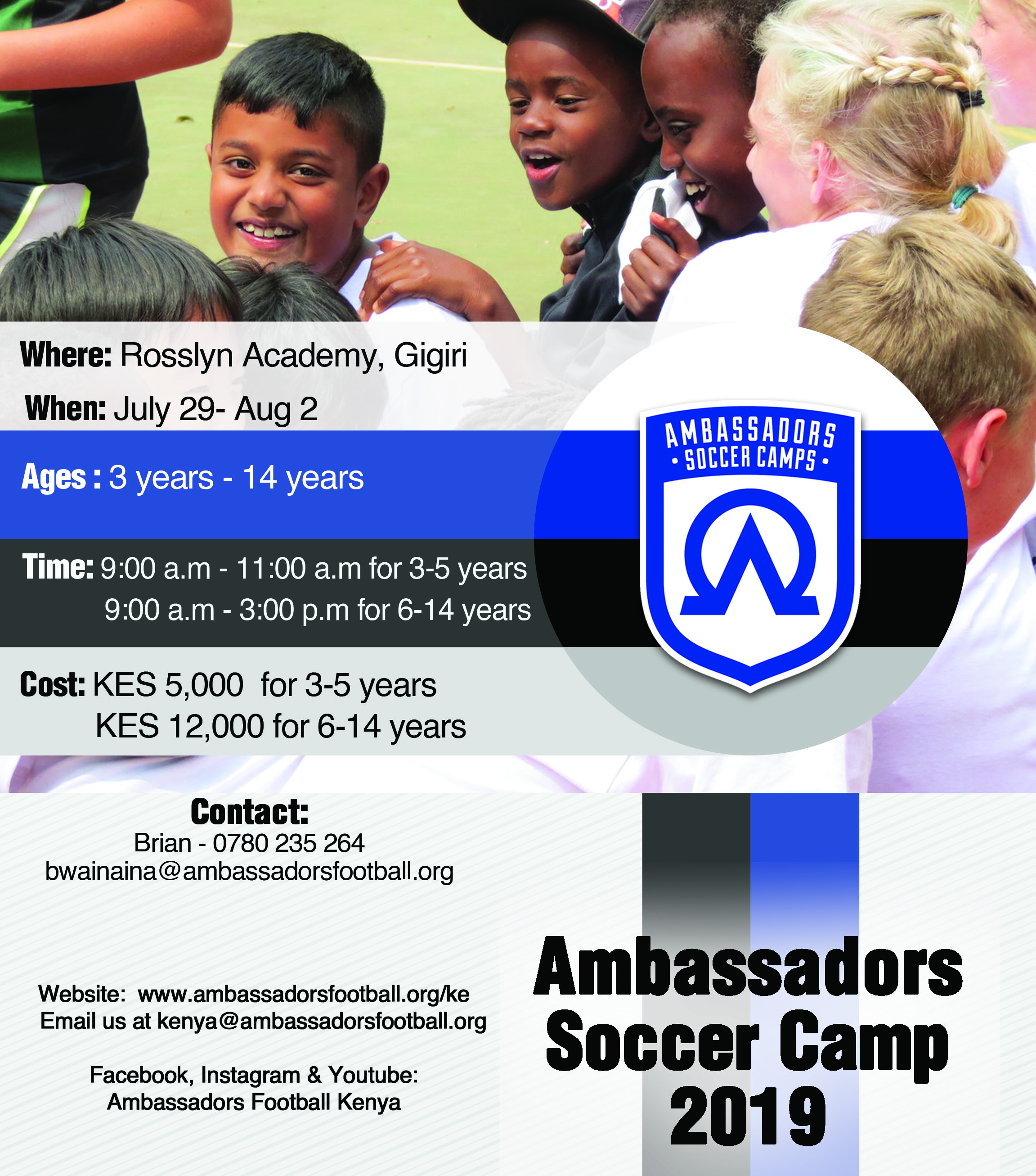 Ambassadors Football Summer Camp 2019