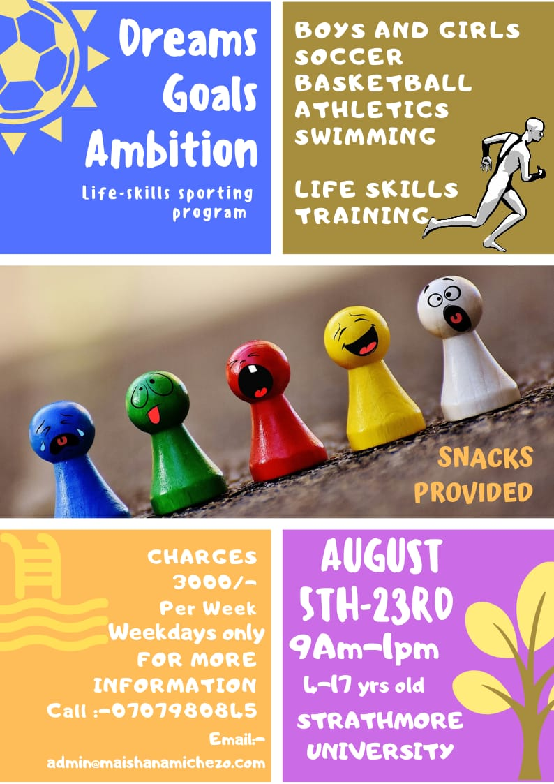Dreams Goals and Ambition August Holiday Training