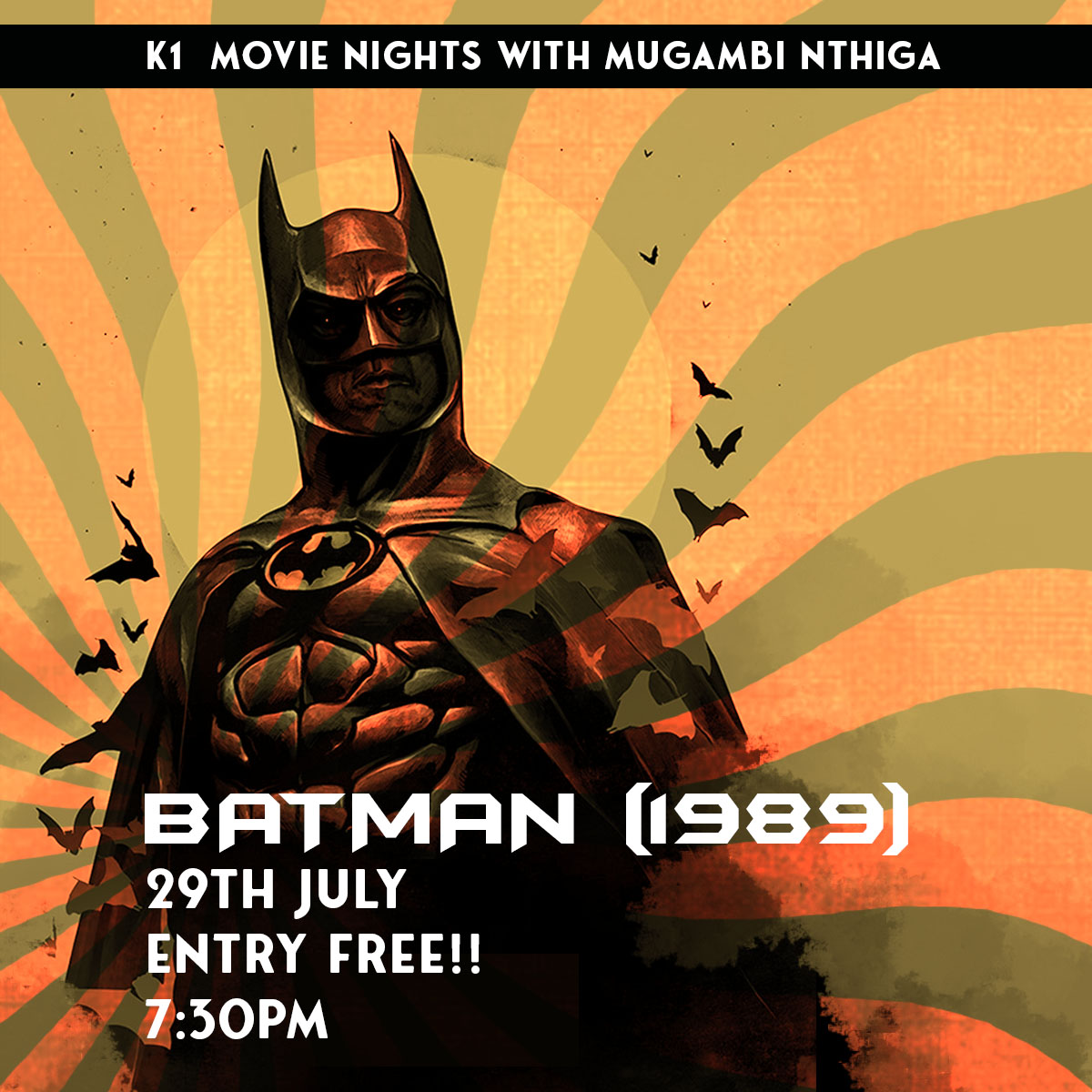 Movie Night: Batman (1989) hosted by Mugambi Nthiga