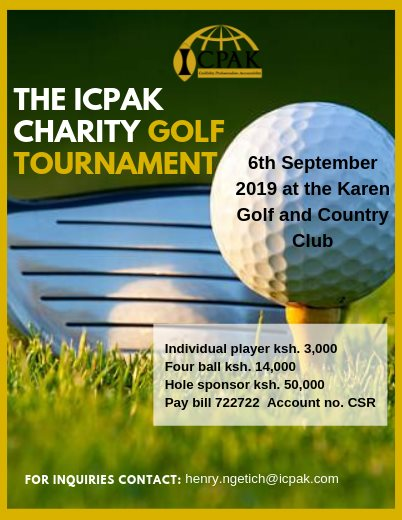 The ICPAK Annual Charity Golf Tournament