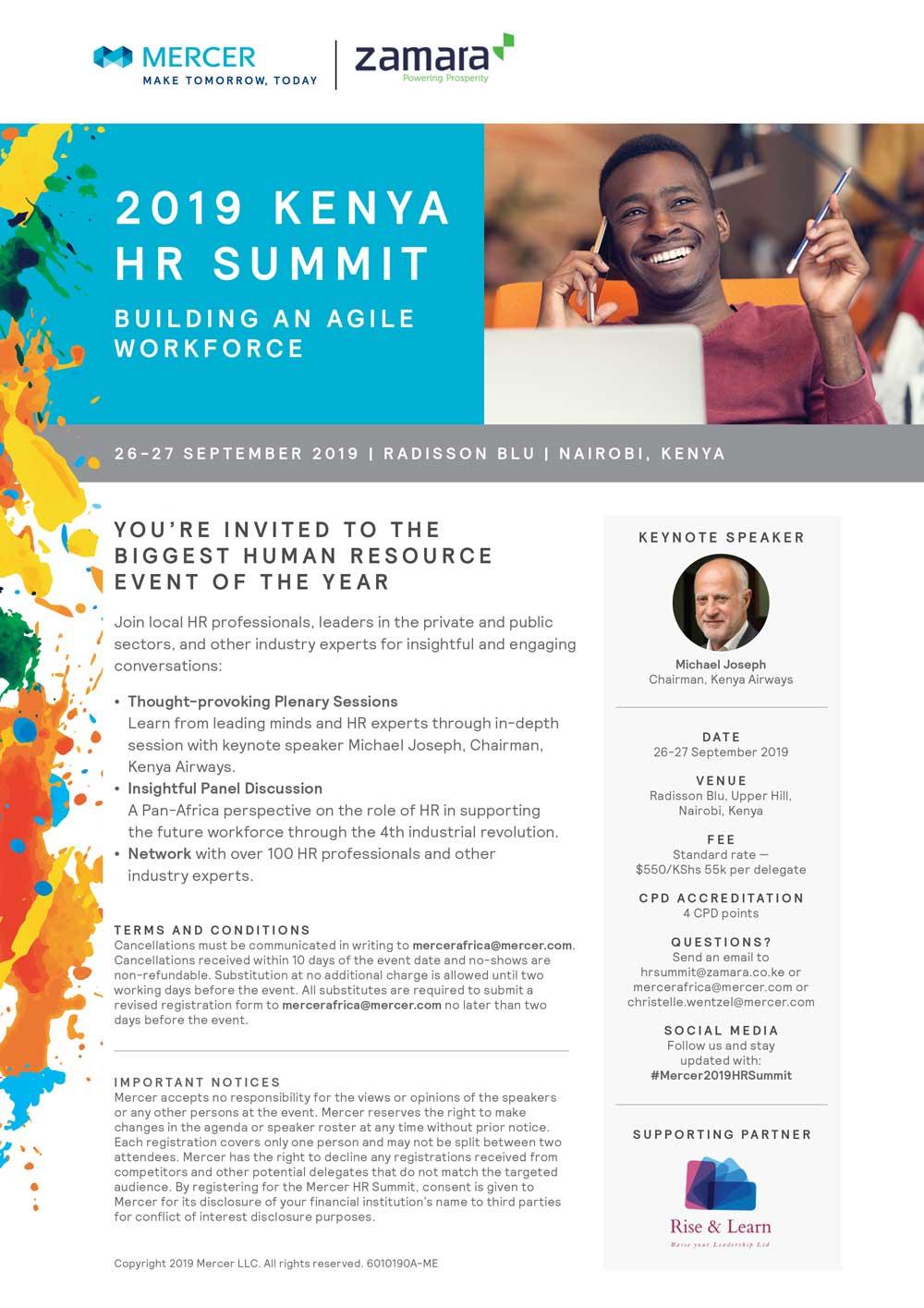 2019 Kenya HR Summit ( Building an Agile Workforce)