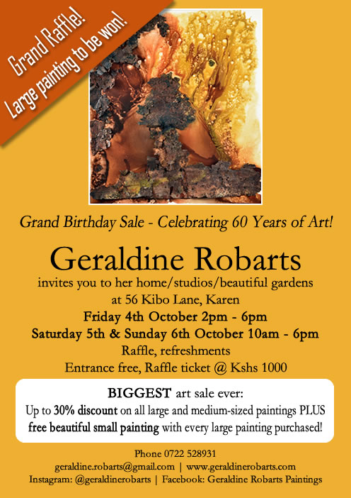 Geraldine Robarts Grand Birthday Sale