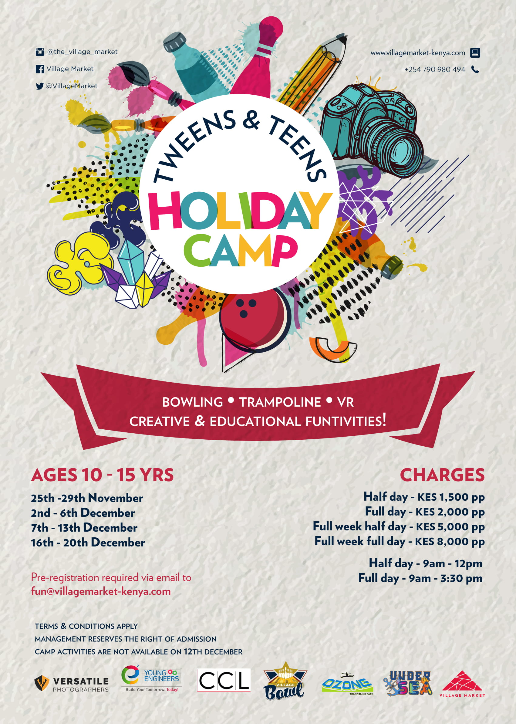 Tweens and Teens Holiday Camp