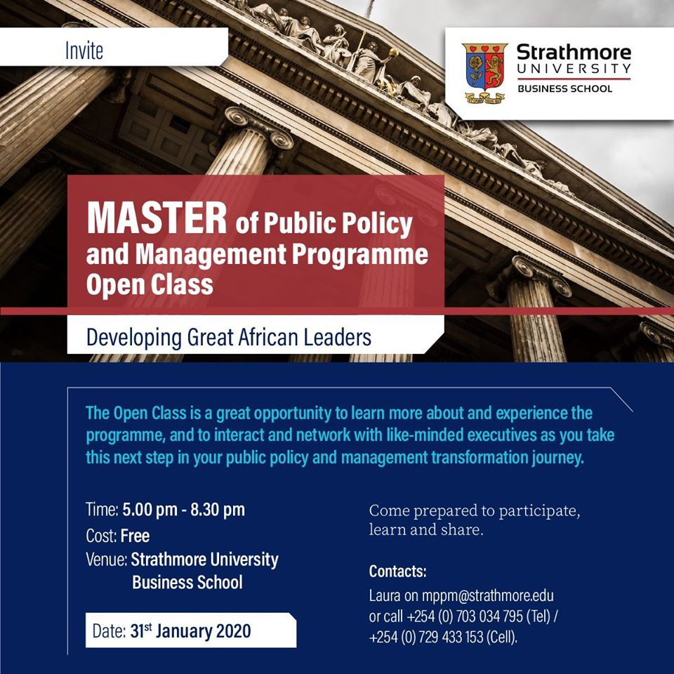 Master of Public Policy and Management-Open Class
