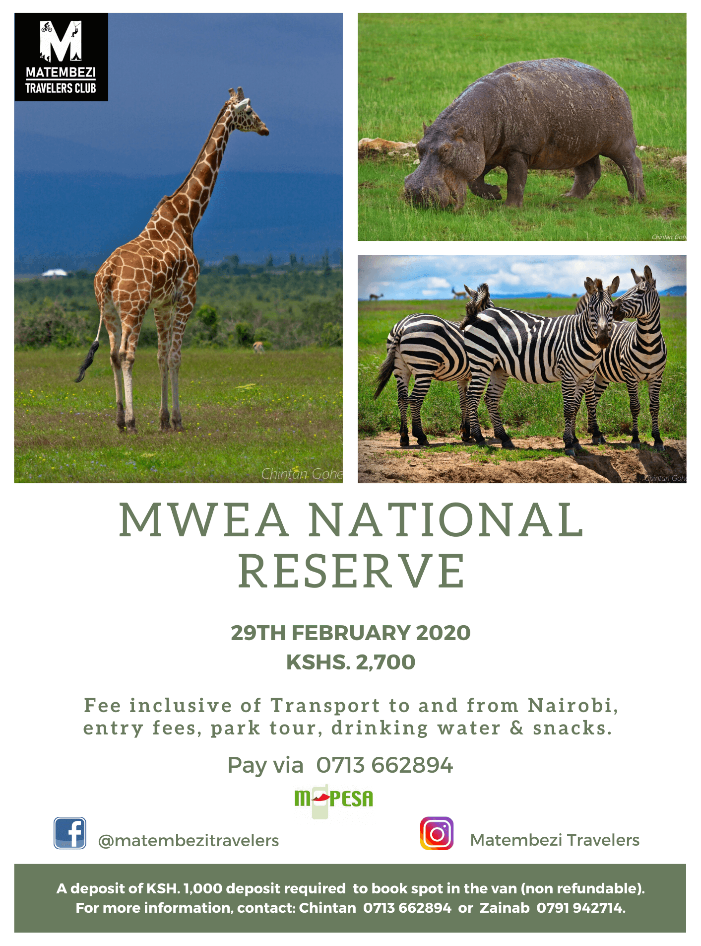 Mwea National Reserve Day safari