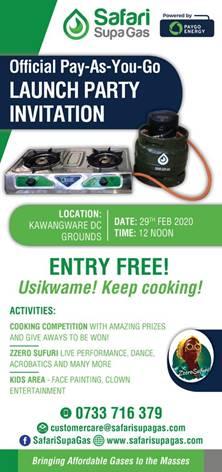 Safari Supa Gas Launch Party