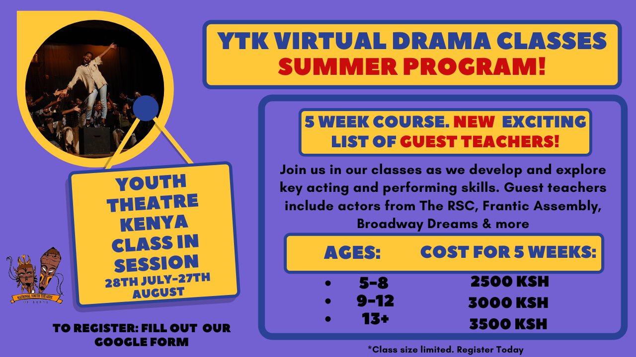 Youth Theatre of Kenya Virtual Classes