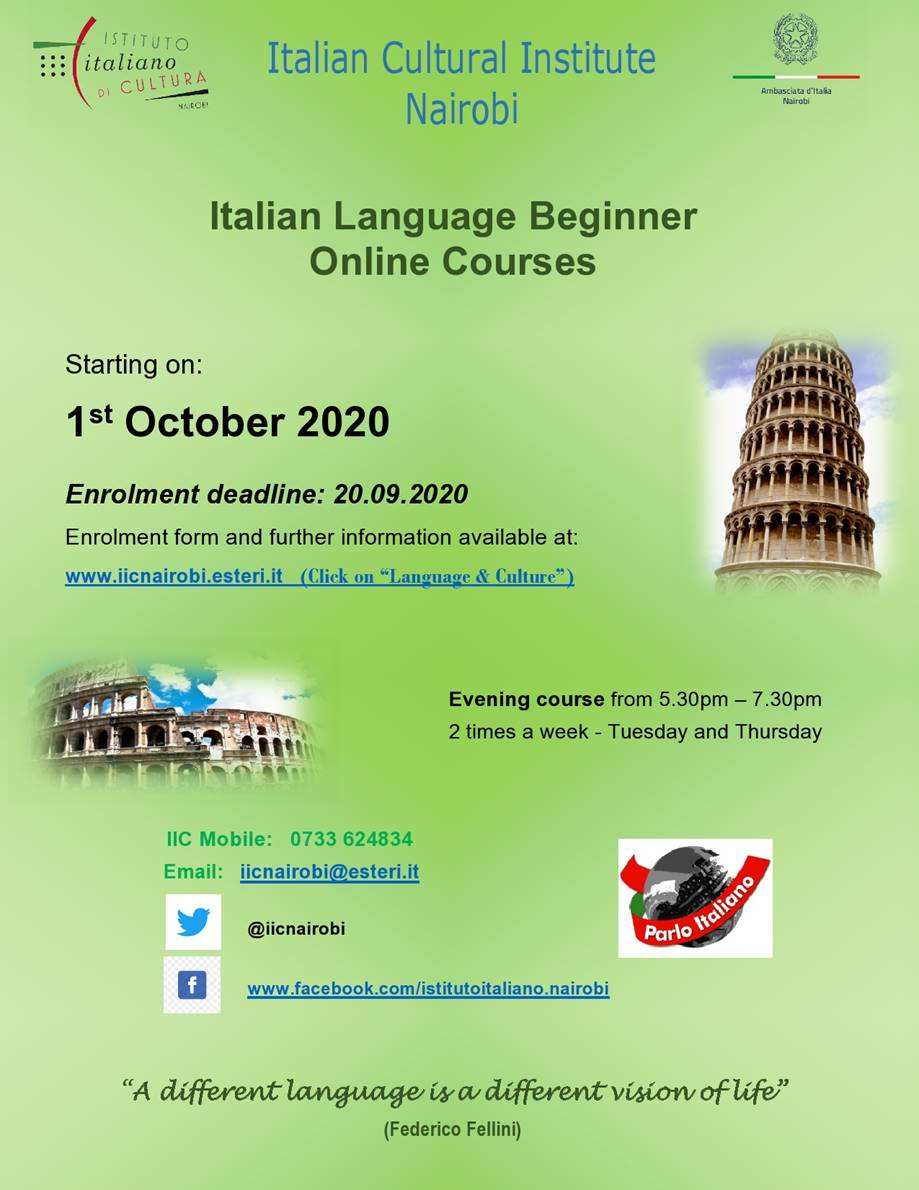 Italian Language Beginner Course