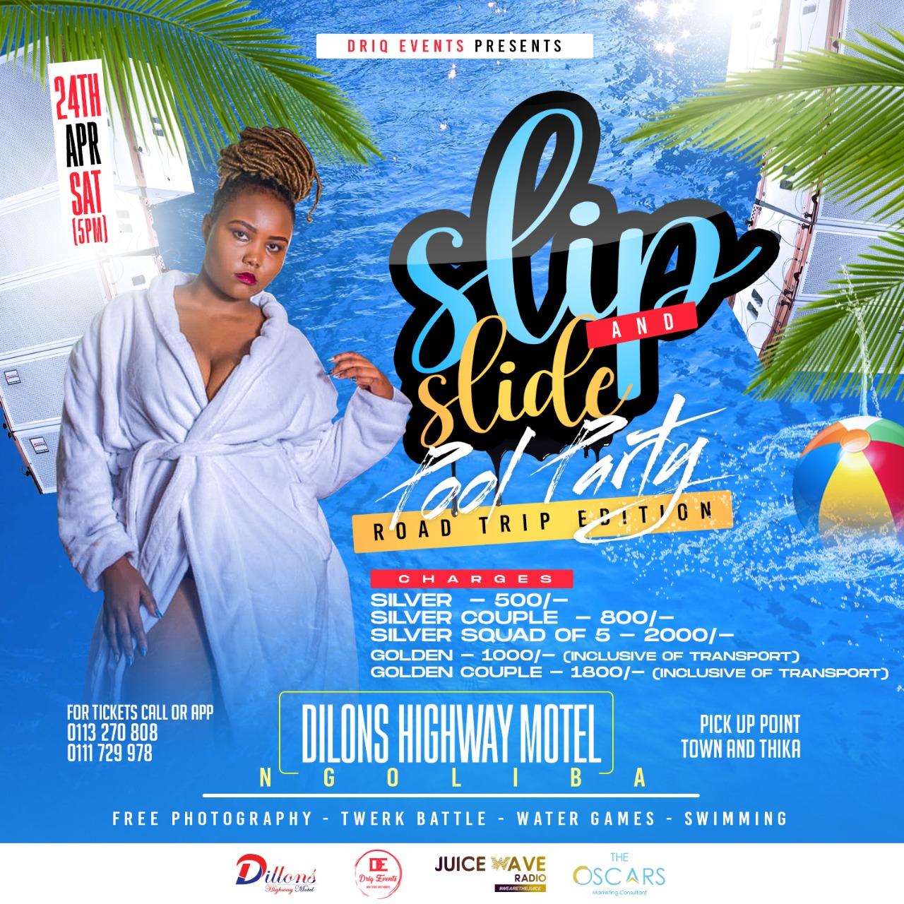 Slip n Slide Pool Party