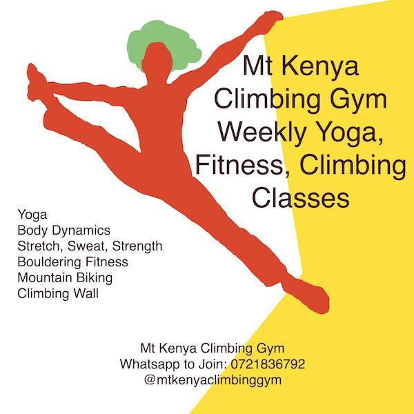 Mt Kenya Climbing Gym Weekly Yoga, Fitness, Climbing Classes